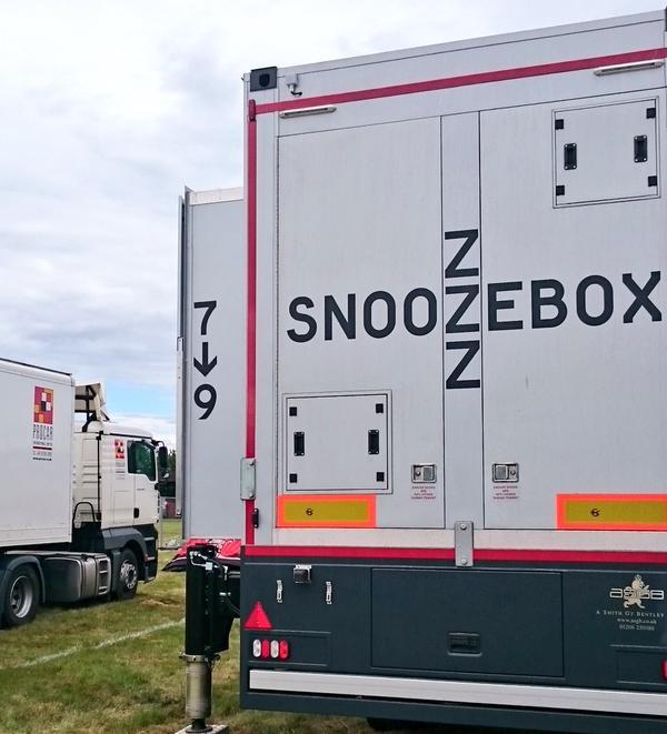 Snoozebox setup at Rock am Ring