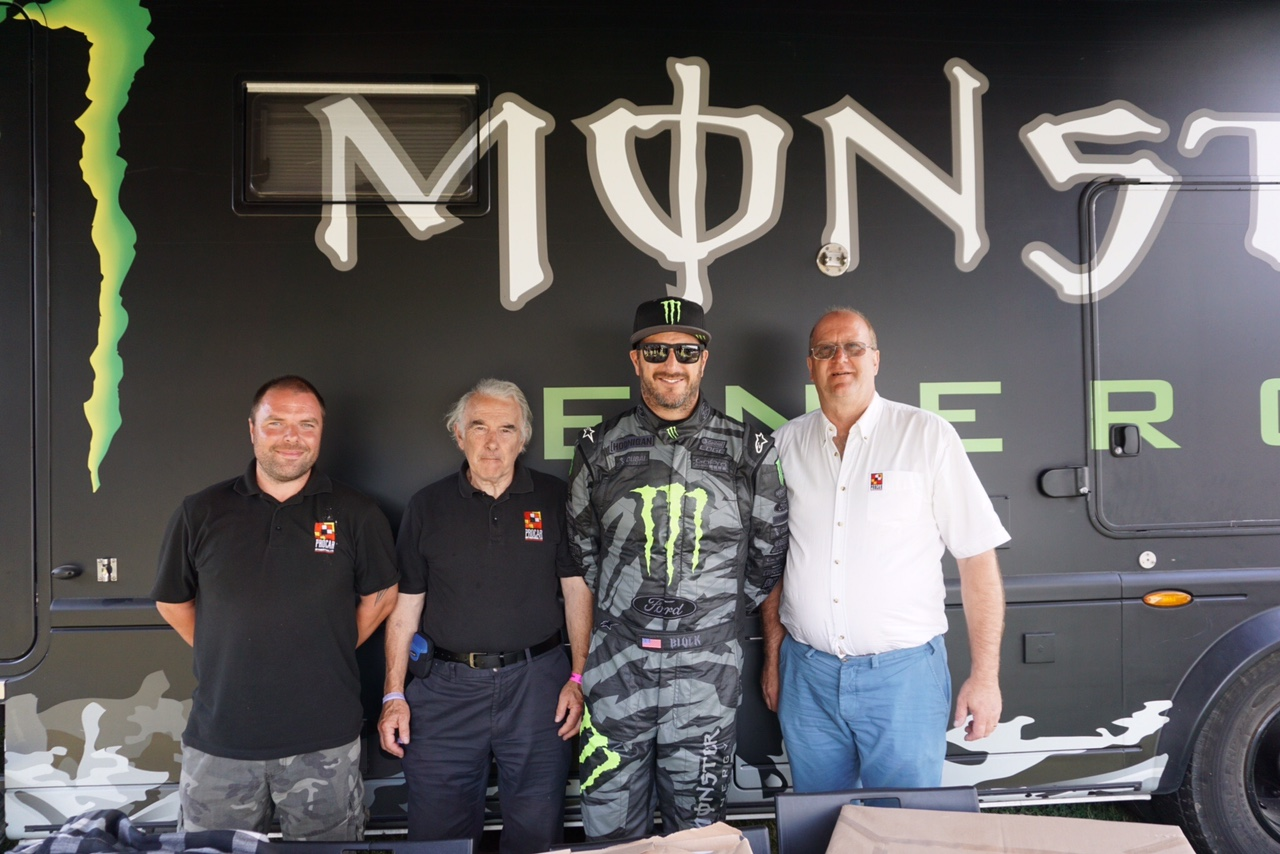 Procar crew with Ken Block at Goodwood festival of speed
