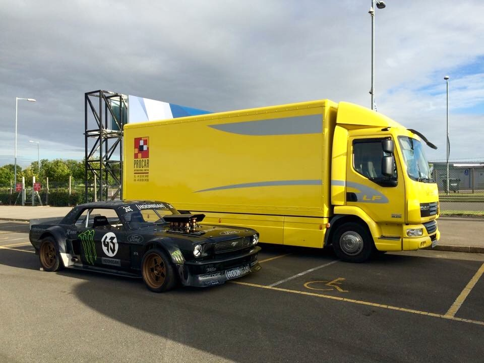 Gavin at Silverstone with 43 Racing <Hoonigan> for a photo shoot with a well known motoring publication