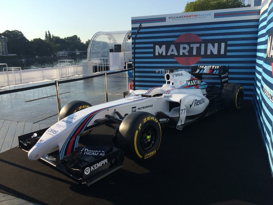 Williams F1 with Martini Racing, at Liege 20.08.15