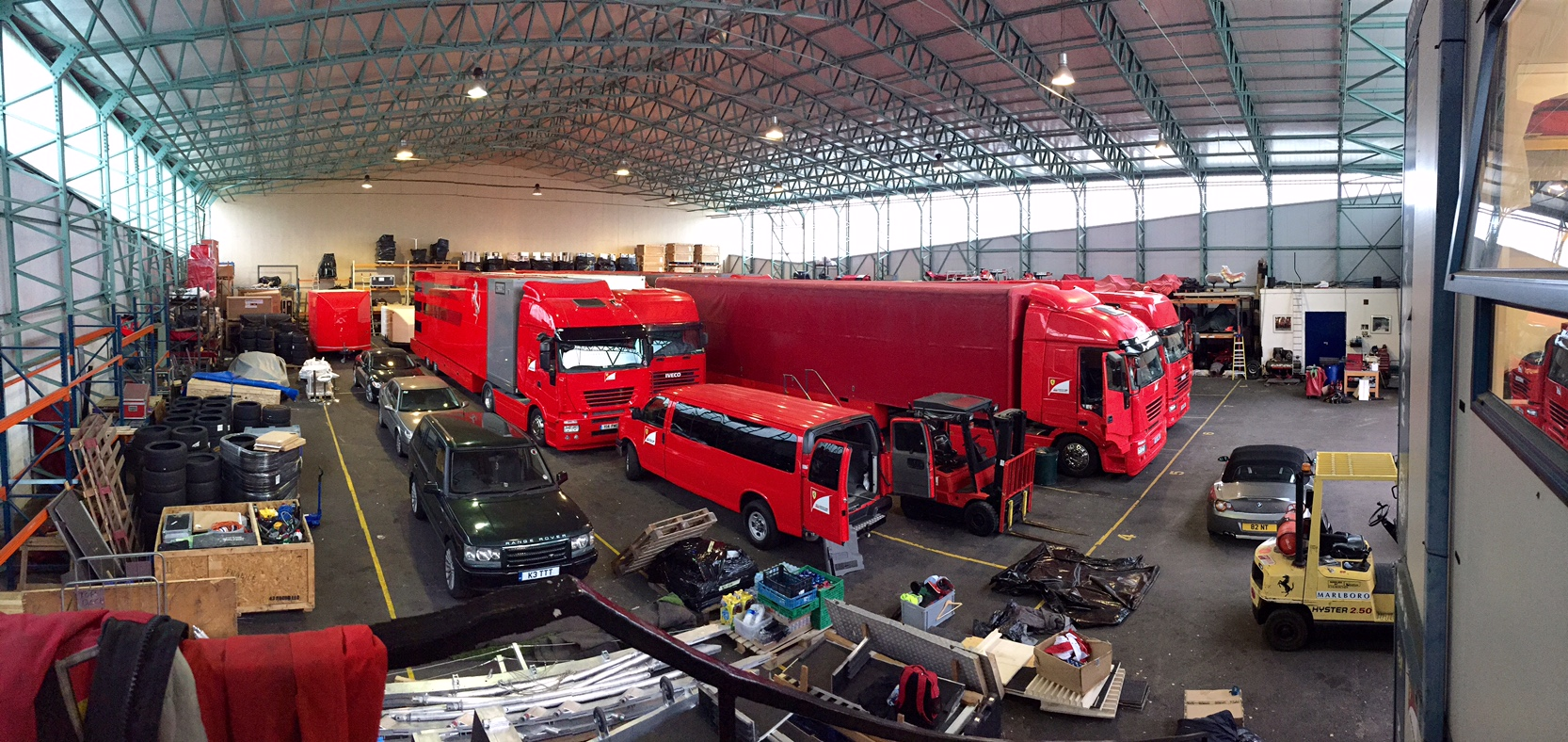 The Procar F1 Paddock Complex crew finishing off the European season