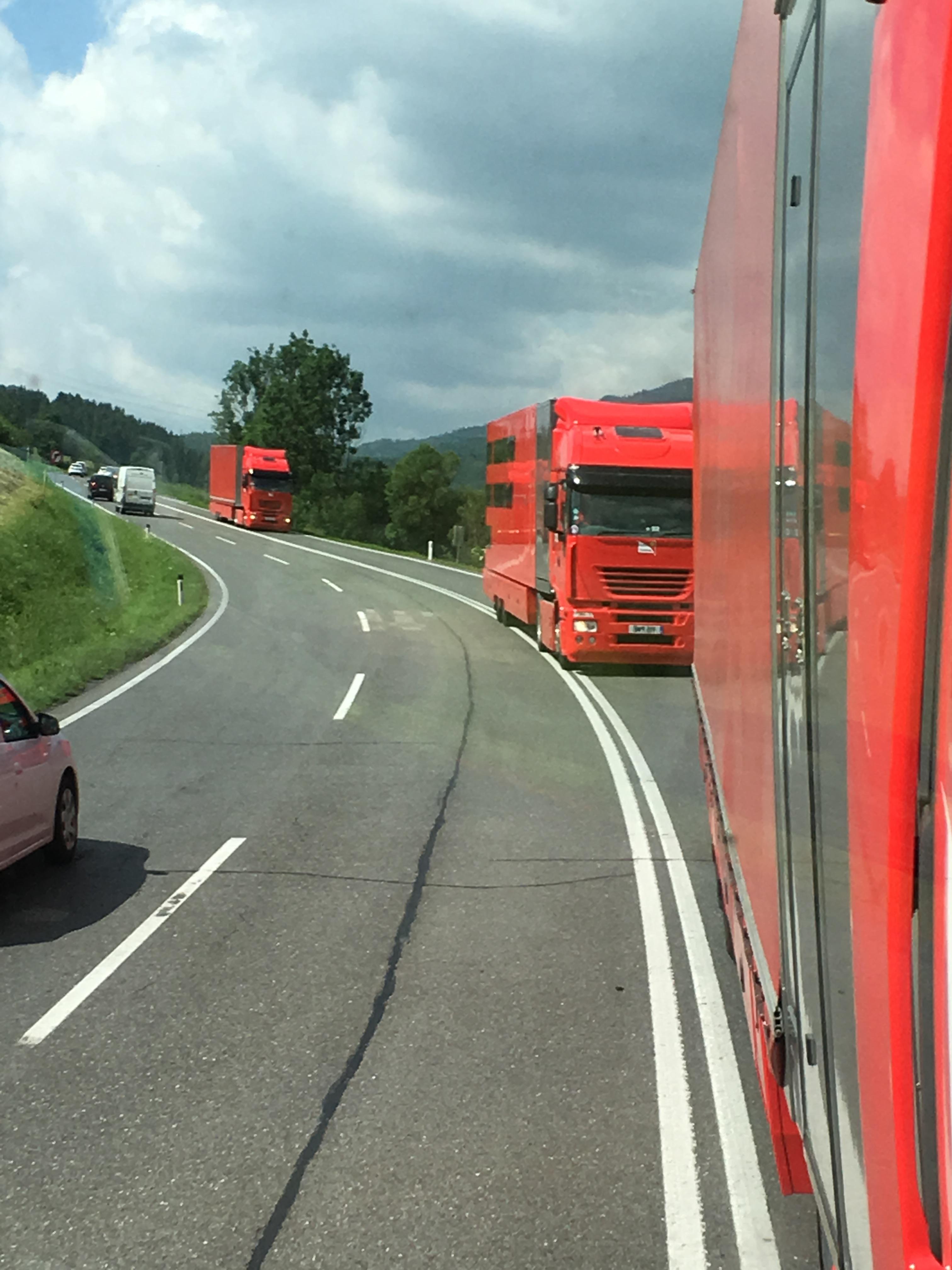 Philip Morris Ferrari F1 road trip!