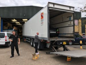 Loading Hooigan Fordt Escort and WRX Fiesta for transporting